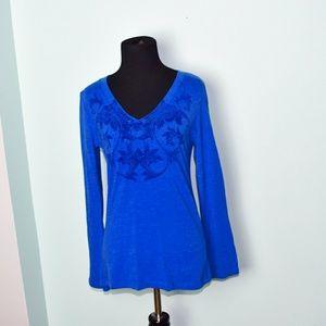 Stunning Royal Blue Printed Blouse